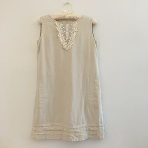 Beige Summer Dress with lace work
